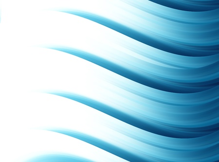 Blue dynamic waves over white background. Illustration Stock Illustration - 9693616