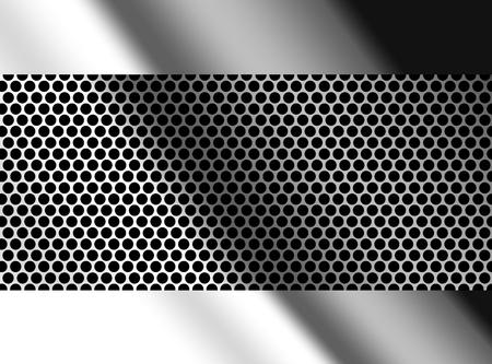 matallic: Chrome background with frame, matallic illustration, empty to insert text or design
