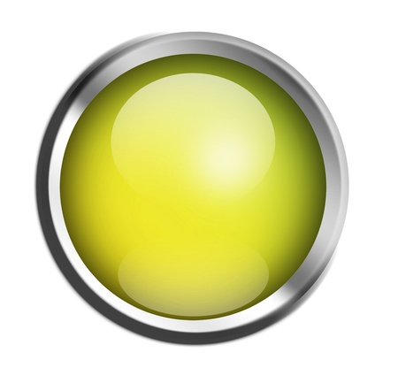 Green button ready to add text or design, isolated illustration Stock Illustration - 9693359