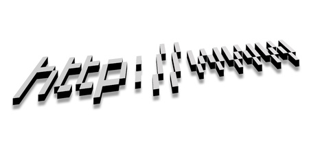 Internet address over white background. Concepts: Internet and technology photo