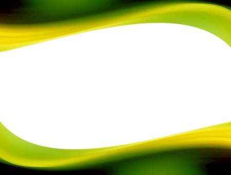 Green dynamic waves over white background. Illustration Stock Illustration - 9693333