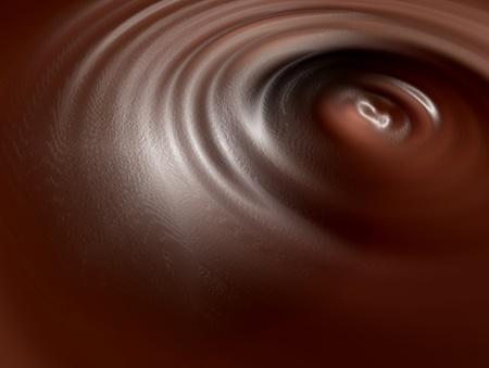 chocolate swirl: Liquid chocolate texture on swirl shape. Illustration