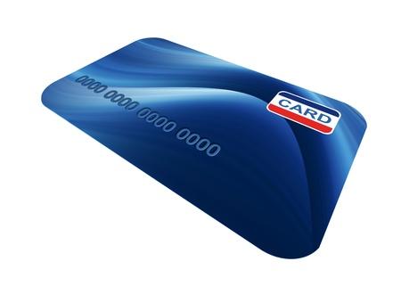 Blue credit cards over white background. Illustration illustration