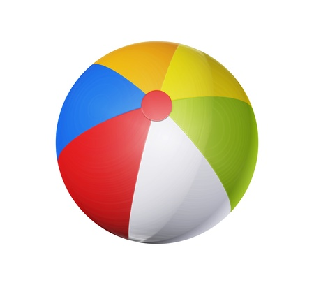 Red, blue, green and yellow, inflatable ball, Concepts, colors and game photo
