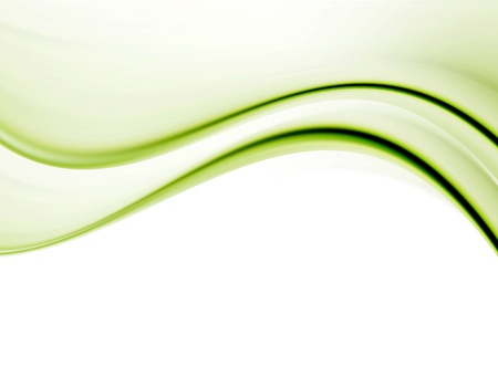 Green waves over white background. Space to insert text or design
