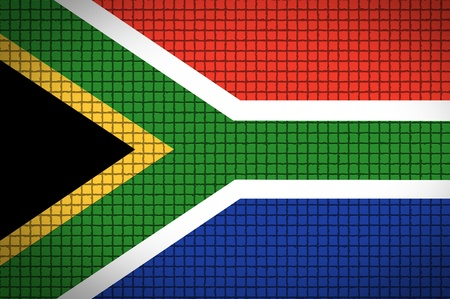 South African flag. 2010 soccer world cup photo