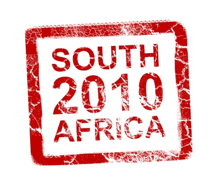 South africa 2010 stamp, Soccer world cup.  photo