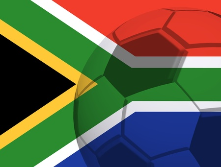 South African flag. 2010 soccer world cup. With ball photo