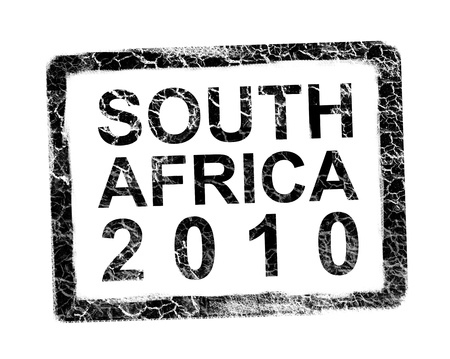 worl: South africa 2010 stamp. Soccer worl cup Stock Photo