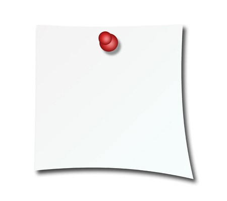 it is isolated: Blank post over white background. Paper illustration