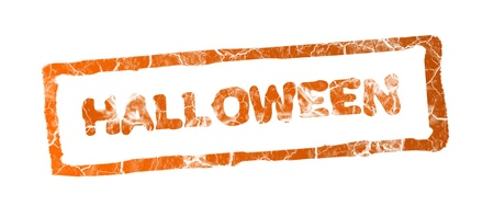 Halloween stamp over white background Stock Photo - 9693416