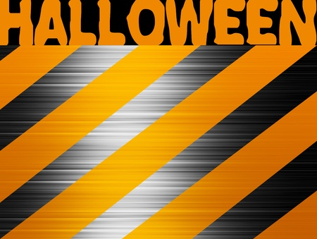 Orange and black chrome lines, Halloween background Stock Photo - 9696736
