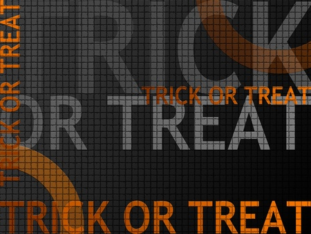 ghouls: Trick or treat orange and black background