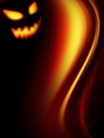 Orange waves on black background, halloween Stock Photo - 9693429