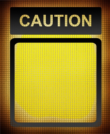 Yellow caution sign with space to insert text or design Stock Photo - 9696739