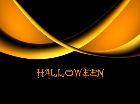 orange sky: Orange waves over black background, halloween illustration Stock Photo