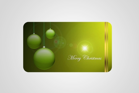 Merry christmas gift card, isolated on gray, space to insert logo or text Stock Photo - 9693296
