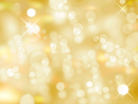 twinkles: Christmas light background, Yellow and white luminous image Stock Photo