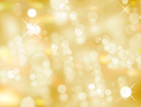 Kerstmis licht achtergrond, geel en wit lichte afbeelding