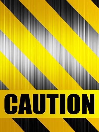 Caution background with black and yellow lines Stock Photo - 9696720