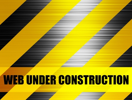web under construction background, yellow and black lines Stock Photo - 9696742