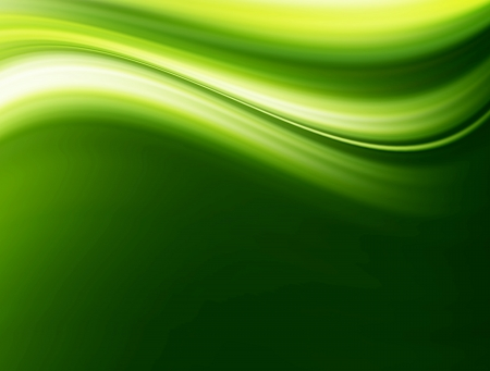 Green wave and  space to insert text or design abstract background Stock Photo - 9693638