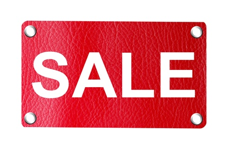 Red sale  promotional billboard over white background Stock Photo - 9693830
