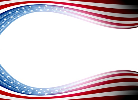 state election: Usa flag waveswith  space for insert text or design. Illustration   Stock Photo