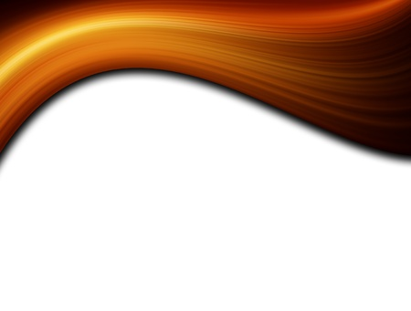 heat wave: Orange dynamic wave on white background, Space to insert text or design