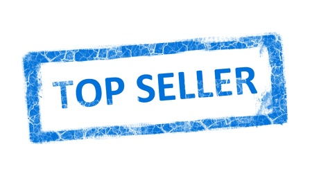 Top seller blue stamp on white background Stock Photo - 9693817