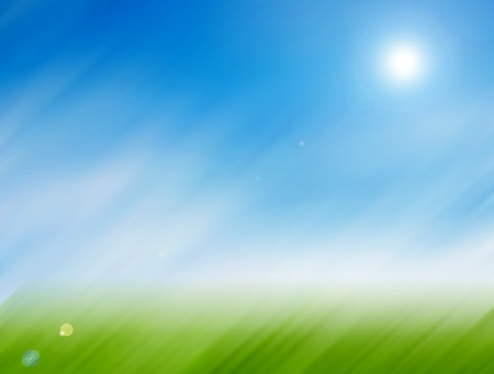 Green, blue and white outside field abstract illustration Stock Illustration - 9693740