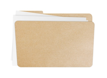 Folder with papers inside, Isolate on white background photo