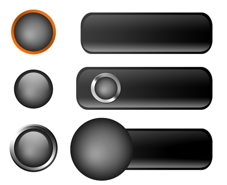 Buttons of different sizes and colors over white background Stock Photo - 9693387