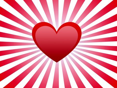 Heart card with red lines over whitr background Stock Photo - 9694147