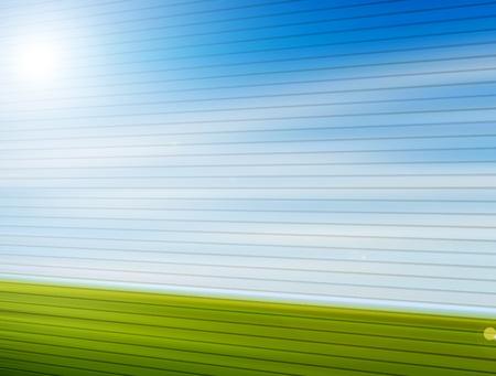 Landscape with perspective lines. Illustration Stock Illustration - 9694111