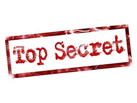 top secret stamp on red color Stock Photo - 9698074