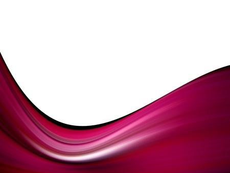 fuchsia wave 3d on white background Stock Photo - 9698199
