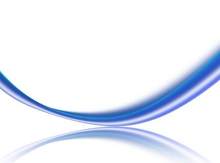 vague dynamique bleue sur fond blanc. illustration abstraite