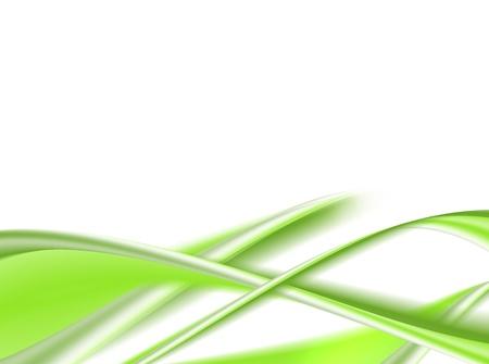 infinite: green dynamic waves on white background. illustration
