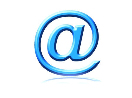 http: email symbol representation on white background with reflex