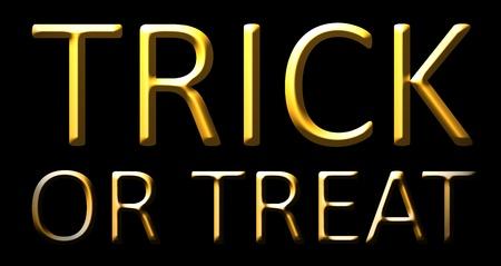 trick or treat: halloween trick treat orange october Stock Photo