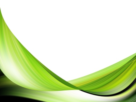 colores: green dynamic wave on white background
