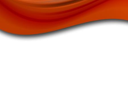 discreto: ola roja sobre fondo blanco