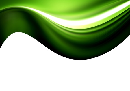 tridimensional: green background style Stock Photo