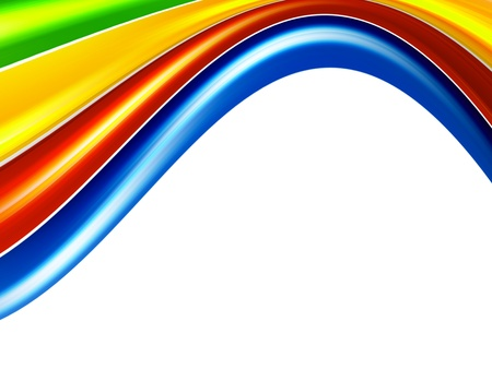color waves background, green, orange, red and blue Stock Photo - 9698093