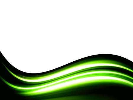 energia electrica: olas verdes sobre fondo blanco Foto de archivo