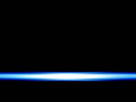 blue ray on black background Stock Photo - 9696850