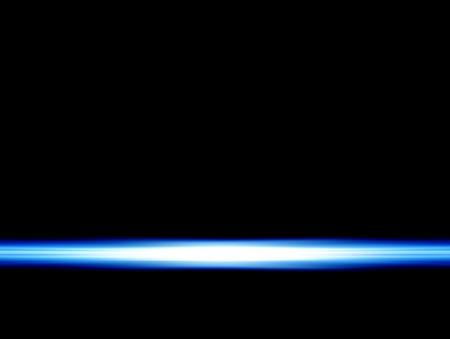 ray bleu sur fond noir Banque d'images