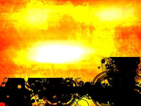 illustration cool: orange background illustration, cool design Stock Photo
