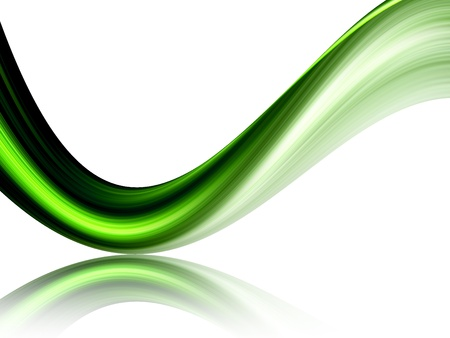 green dynamic wave on white background, with movement effect Stock Photo - 9698010